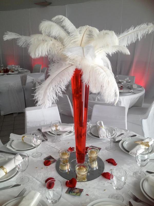 Decoration De Table En Rouge Et Blanc