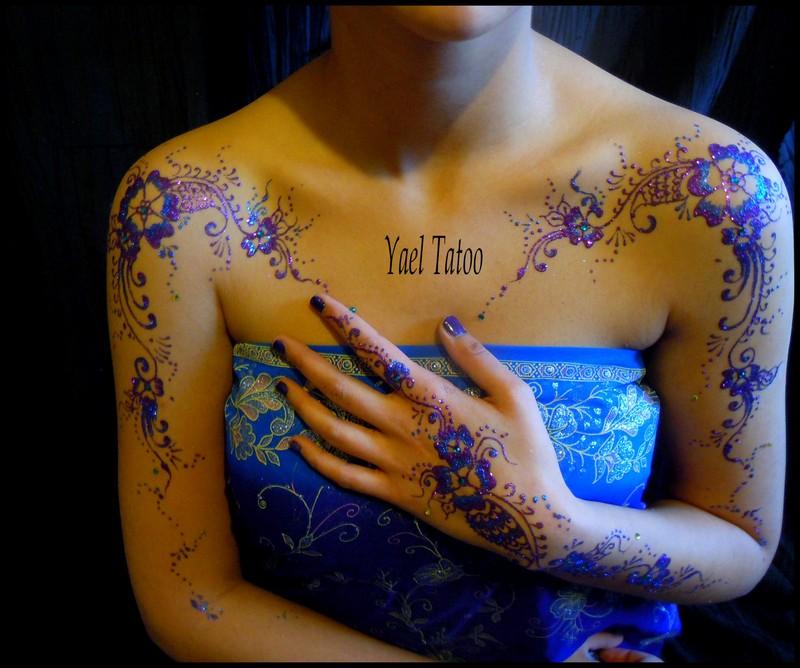 tatouage paillete violet et bleu_2819jp - Tatouage Paillette Mariage